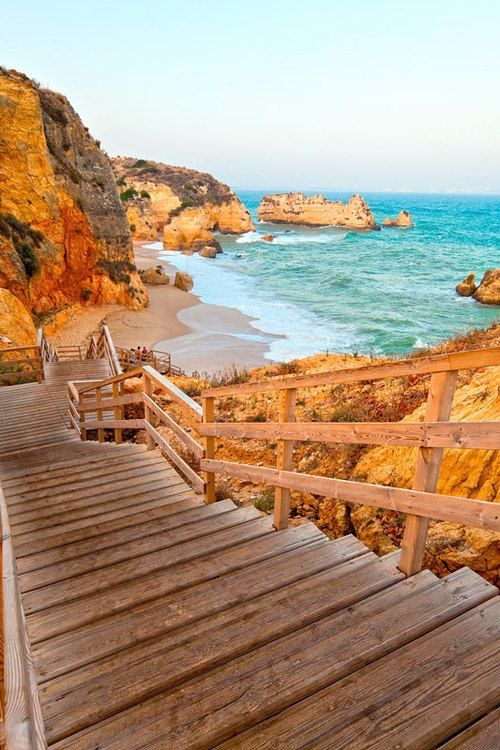 Steps to the Sea, Dona ana Beach, Portugal