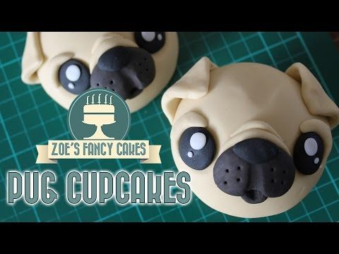 How to make pug cupcakes! In this cake decorating tutorial I show you how to make cute little pug face cupcake toppers to decorate your cupcakes with. I make...