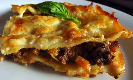 Just to be clear, that's 'lasagne' as in a baked dish of flat pasta and bolognese sauce. Do you prefer the British, American or Italian style?