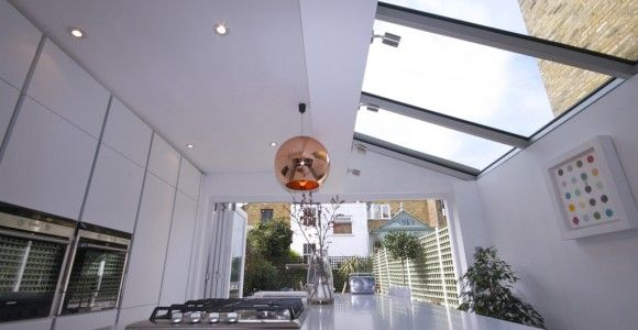 glass roof and glass doors
