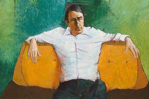 An image of Portrait of Neville Wran by Clifton Pugh 1976 oil on hardboard