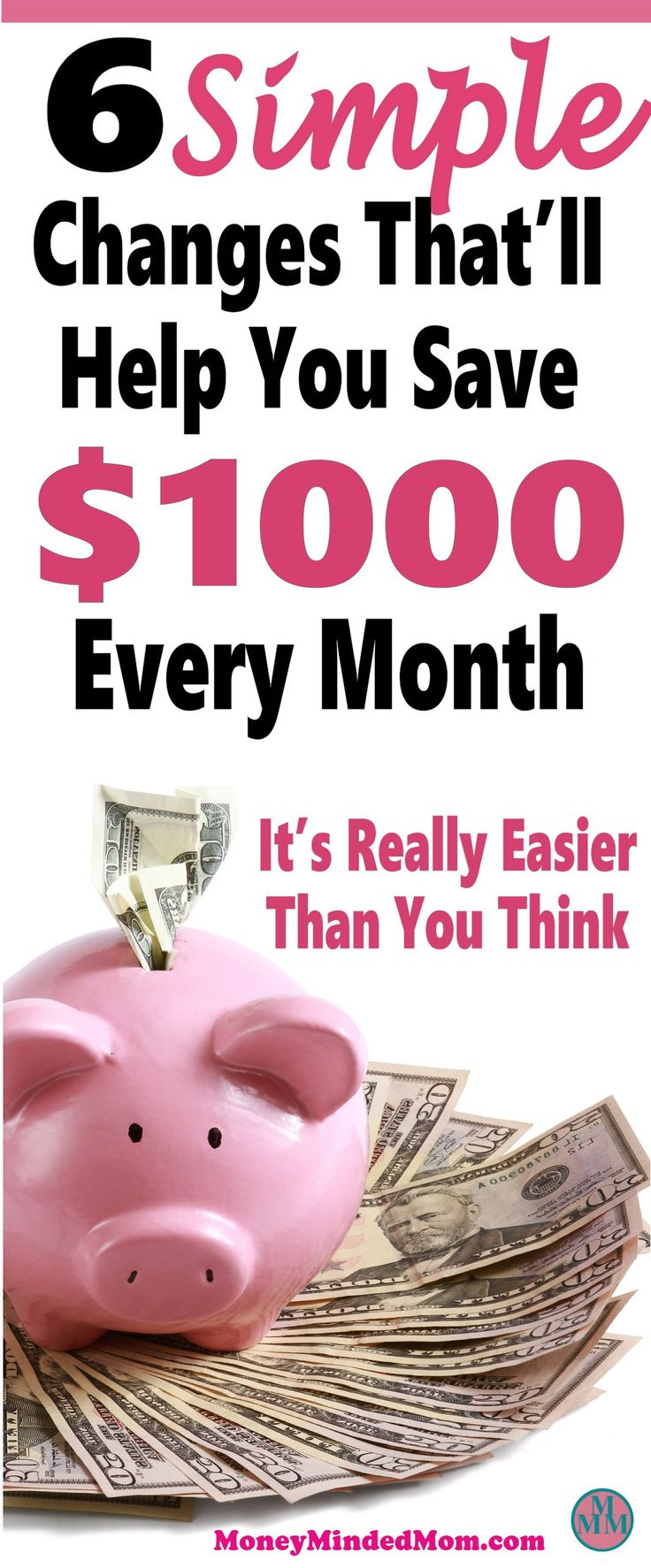Saving an extra $1000 a month might seem like an impossible task, but it really isn't. Small changes go a long way to saving money, balancing your budget and managing money. Read on to learn how small changes can really add up to a huge amount of money saved. Saving Money | Money Saving Tips | Finance | Get Out Of Debt | saving money | money | saving money tips | money saving tips | money saving ideas | frugal living | thrifty living #finance #money #saving #budget