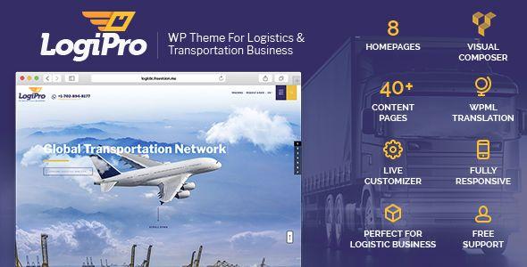 LogiPro - Transportation & Logistics WordPress Theme - Business Corporate