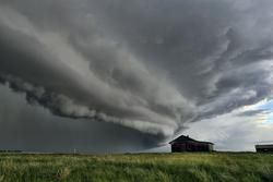 Stormy Abandon - a thunderstorm overtakes an abandoned homestead in Saskatchewan Canada