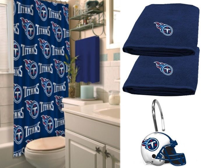 Tennessee Titans NFL Deluxe Bath Set at sportsfansplus.com