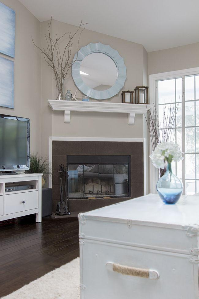 ExteriorColor: SW's Functional Grey Patio Set: Target LED Landscape Lighting: Ebay Paint Color: Valspar's Magic Spell Floor Tile: Lowes (Giotto Grey) Coat Rack: DIY Light Fixture: Over…