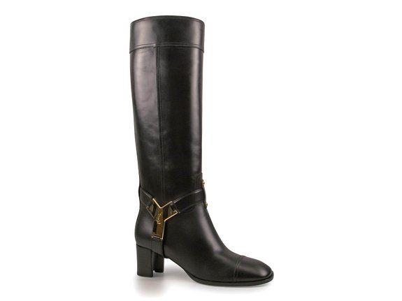 Piel de becerro negro de Yves Saint Laurent mujeres botas hasta la rodilla zapatos - Número de modelo: 300666 CYL00 1000 - Tamaño: 41 IT / 41 EU: #Botas #YSL #IvesSaint