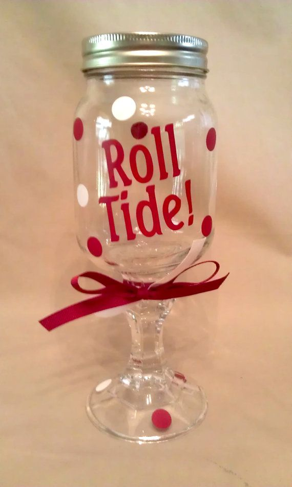 University of ALABAMA ROLL TIDE Redneck Wine Glass for Crimson Tide fans on Etsy, $10.00