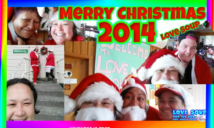 Christmas Celebrations at LOVE SOUP 2014 community meal on tonight