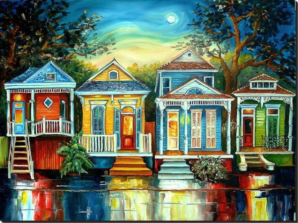 Big Easy Moon  New Orleans Art by Diane Millsap