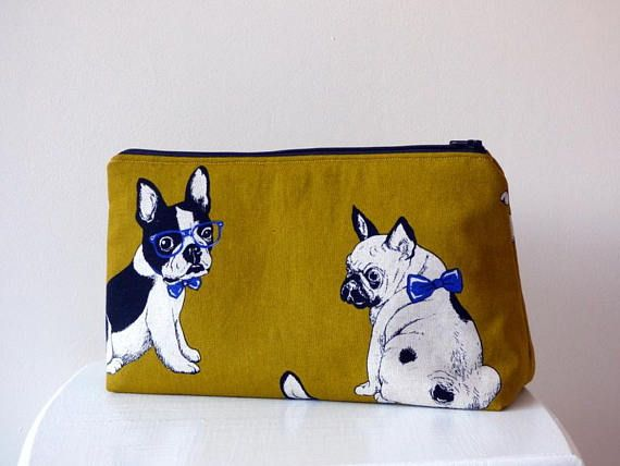 064a6e362b18 French Bulldog Toiletry Bag, Frenchie Wash Bag, Large Cosmetic Bag ...