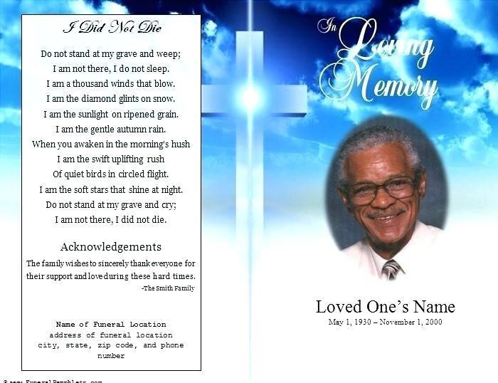 Funeral Memorial Card Template Memorial Card Template Word Free