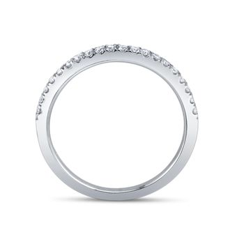 Scott Kay 14K White Gold and Diamond Wedding Ring to go with the single diamond engagement ring