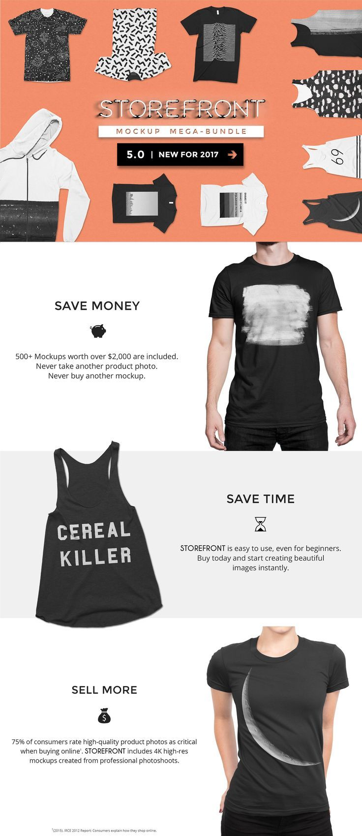 STOREFRONT - Apparel Mockups Bundle by Photific on @creativemarket #ideas #inspiration #digitalart #creativemarket #rmockup #mock-up #psd #design #background #t-shirt