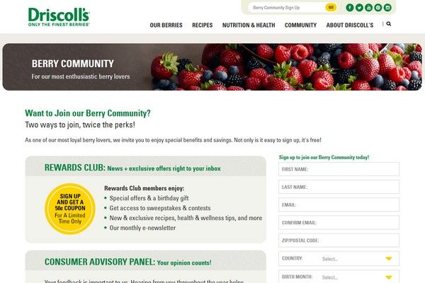 Driscoll's Berry Survey: Earn Free Coupons for Groceries