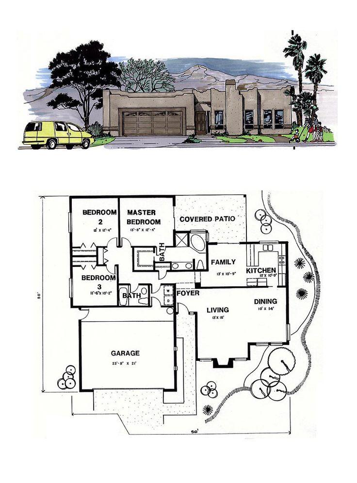 49 best southwest house plans images on pinterest for Southwest home floor plans