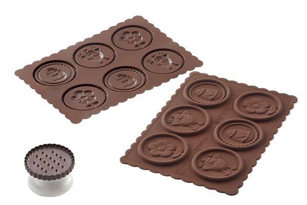 Forma do herbatników petit beurre w czekoladzie SILIKOMART CKC14