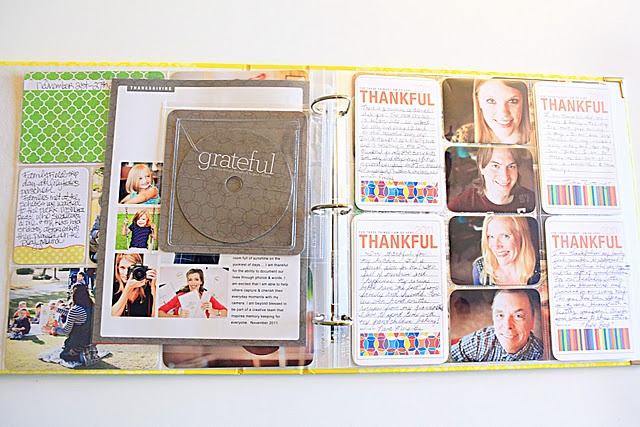 Project Life...every month, include a cd that has all pictures & videos for the month on there. Easy to find pictures when you want them, and you are backing everything up monthly. Sooo smart!