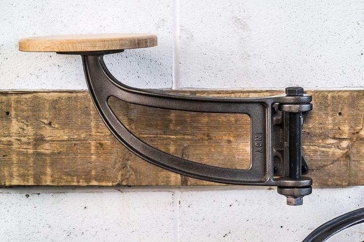 Swivel industrial bar stool/chair