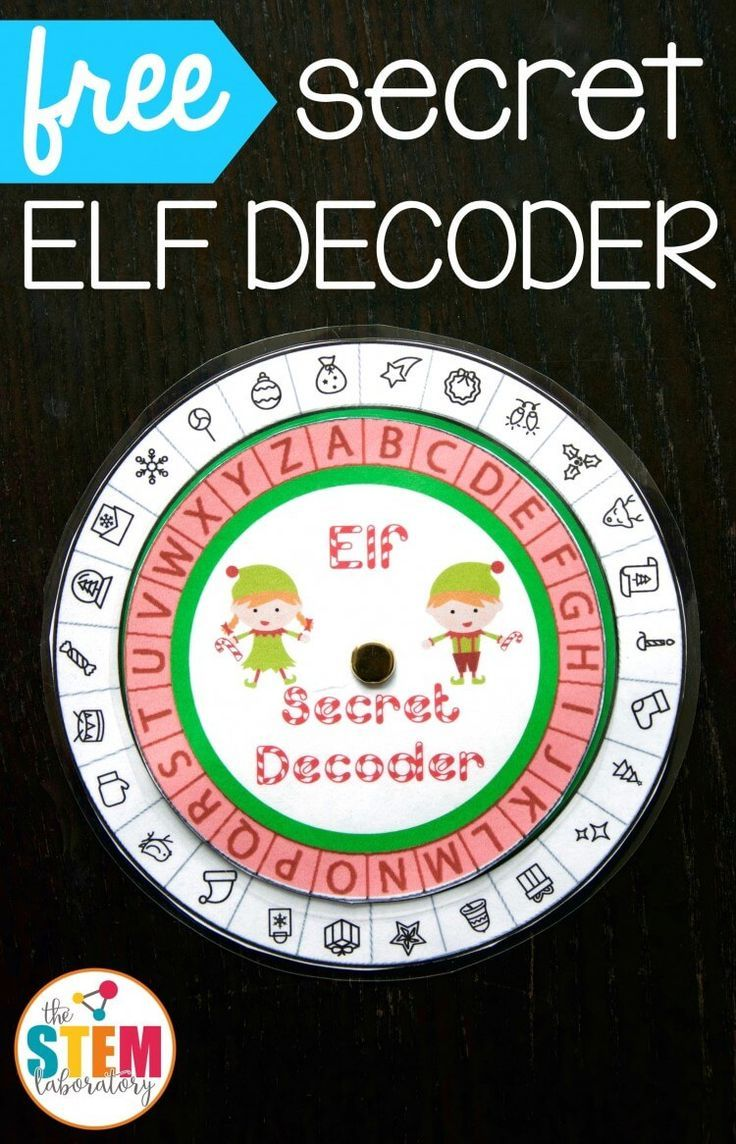 Elf Secret Message Decoder Message from santa, Elf
