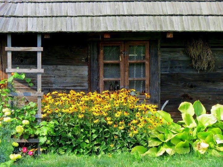 Szkiełkiem, okiem i sercem: Sielskie klimaty - ogród wiejski... Goczałkowice