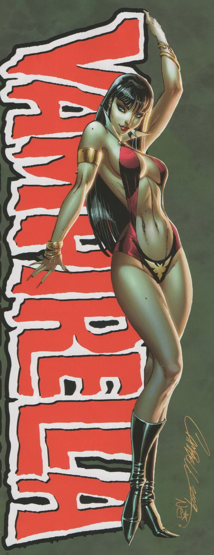 #Vampirella by J. Scott Campbell         For more great pins go to .@KaseyBelleFox
