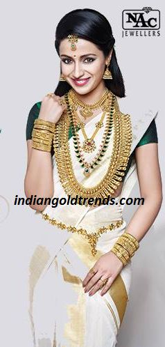 Latest Indian Gold and Diamond Jewellery Designs: Trisha in Kerala Bridal Gold Jewellery Ad