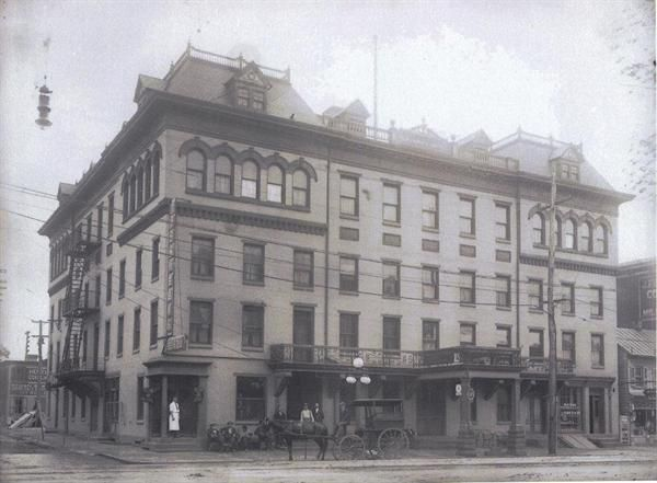 Merchants Hotel At High And York Sts Pottstown Pa Year Unknown