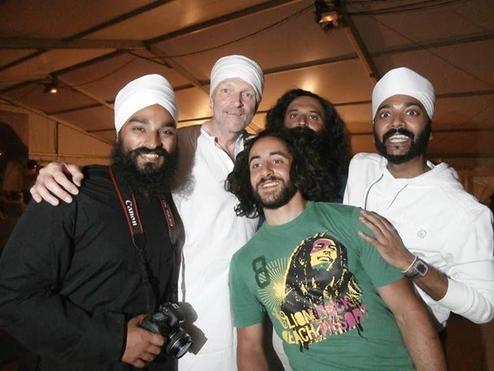 The London Singhs letting their hair down! ;)