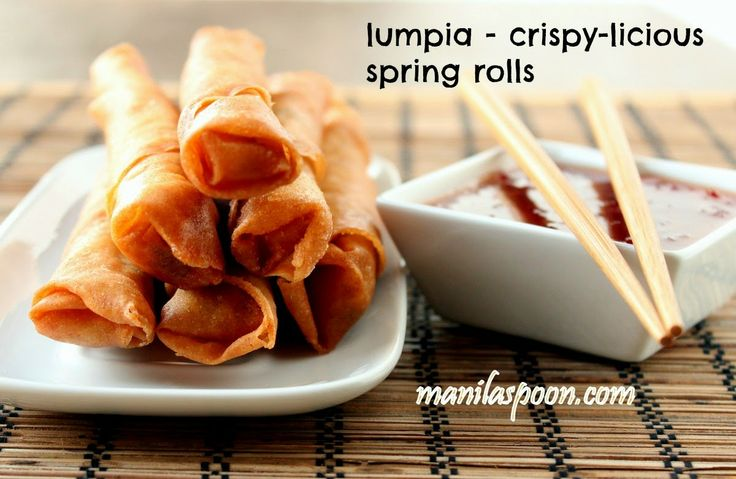 For the perfect appetizer for your Memorial Day weekend - here's a tried and tested crowd-pleaser - Lumpiang Shanghai - Filipino Spring Rolls - crunchy deliciousness in every bite! Satisfaction guaranteed! :)