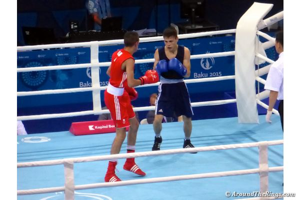 Muhammad Ali (in red) fights for Great Britain. (ATR)