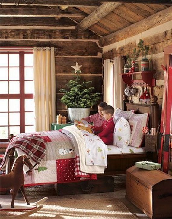 50 Rustic Bedroom Decorating Ideas: 50 Stylish Christmas Bedroom Décor Ideas