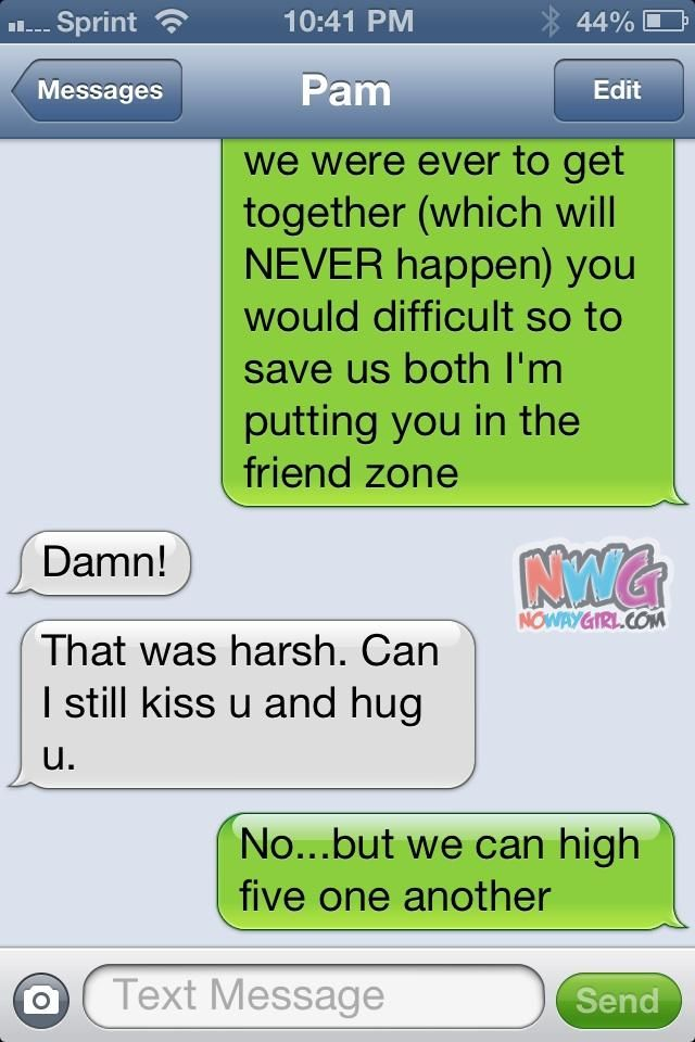 Friend Zone Text Message | Humor | Pinterest | Funny