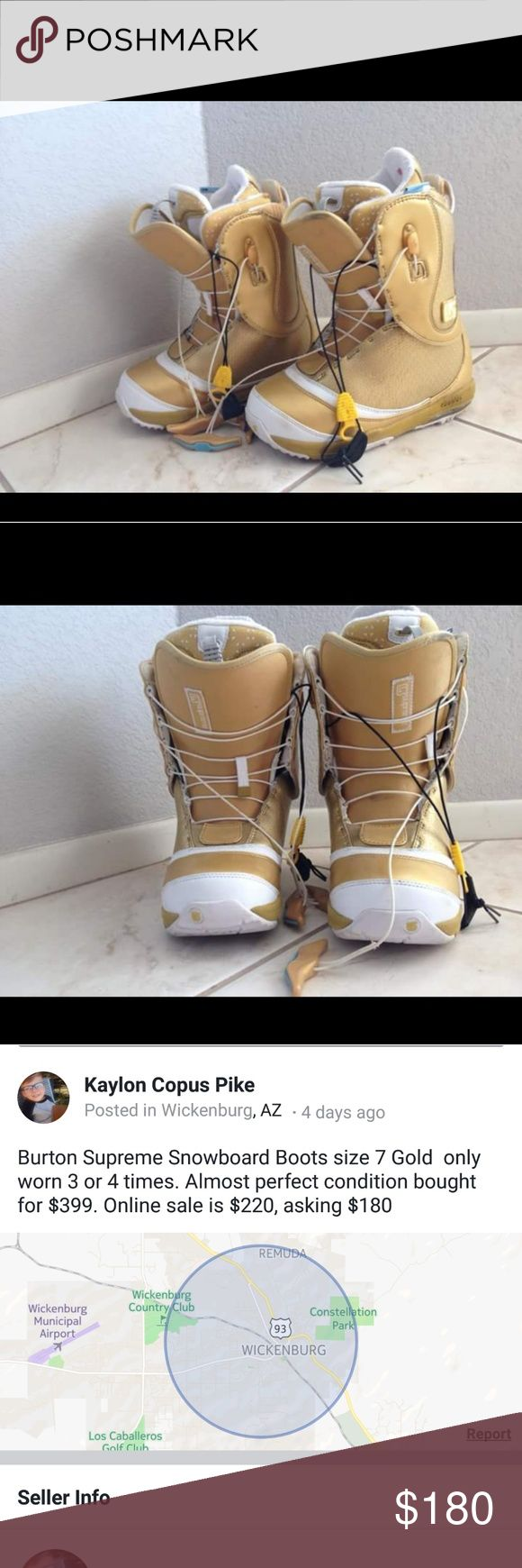 Burton Snowboard boots Size 7 used only a few times Burton Shoes Athletic Shoes