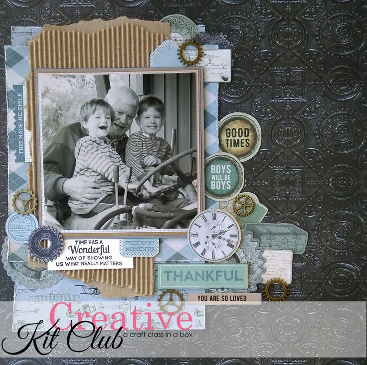 Are you looking for a kit to scrapbook all the men in your life? The August Creative Kit is still available in store @Paper Flourish and on-line and is perfect to 'scarp all the boys' of any age.