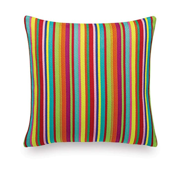 Classic Pillows Maharam: Millerstripe Multicoloured Bright | Home Decor, Midcentury and Contemporary Furniture Design Inspiration | Couch Potato Company