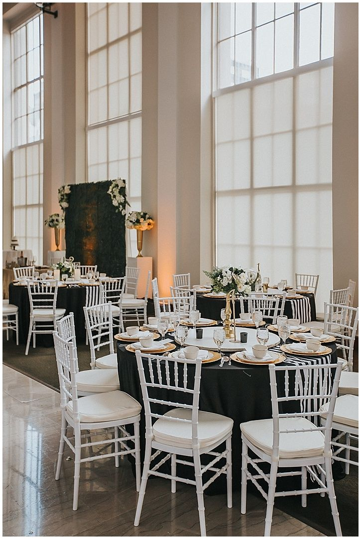 The Vault Tampa Wedding Classic Glamorous Black And White Themed