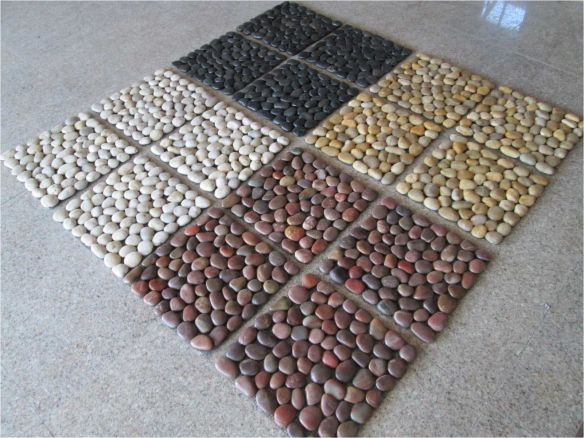Fitting And Sealing Pebble And Stone Mosaic Tiles