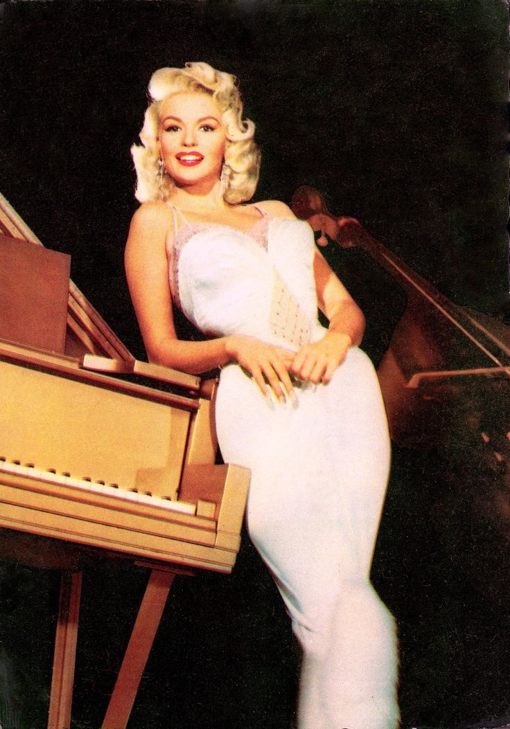 JAYNE MANSFIELD American Actress & Movie Star, In White