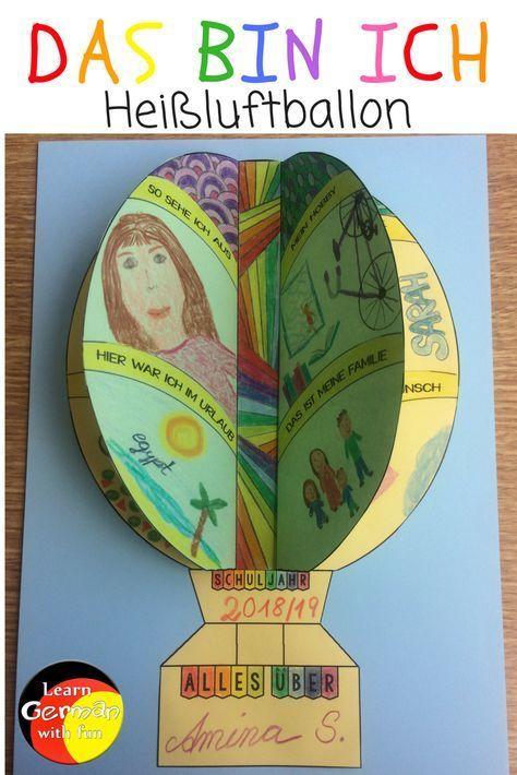 Das bin ich- Heißluftballon. Die Kinder malen ode…