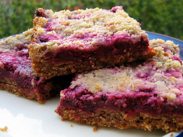 RASPBERRY CRUMB BREAKFAST BARS by cathydanh, via Flickr http ...