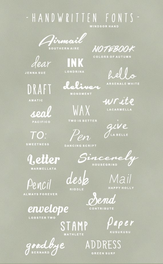 Great fonts for wedding signs  ----repinned by s h e e r  e v e r  a f t e r weddings