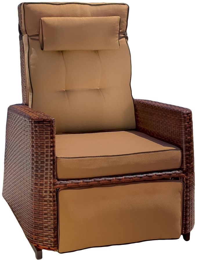 Nfusion Outdoor Wicker Outdoor Recliner Rocking Chair