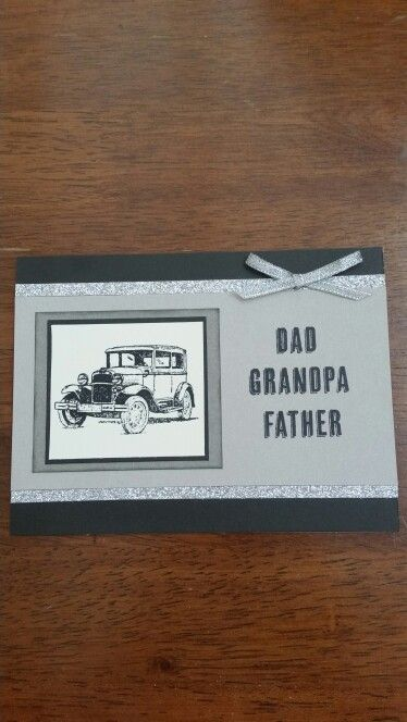 Father's day card using ctmh papers and stampin ups guy greetings stamp set