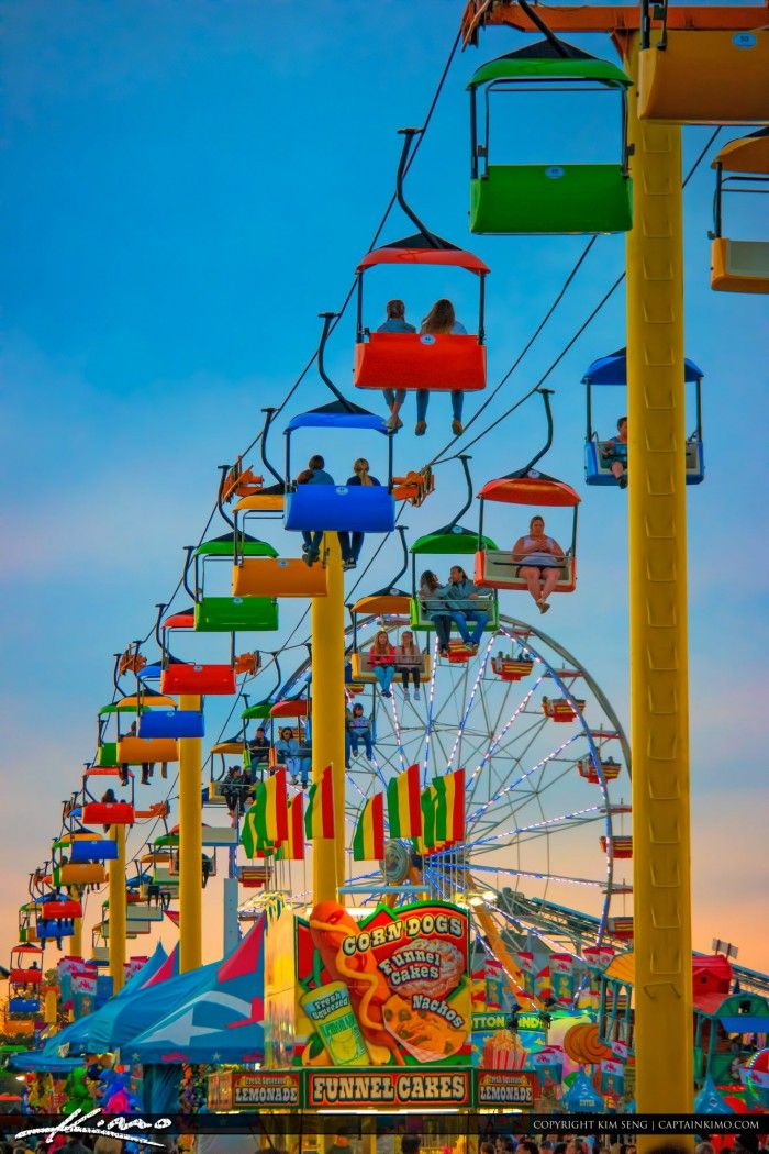 Beautiful weekend for the South Florida Fair. Photo was taken on 2016 with some nice colorful rides during sunset. Image tone mapped using Photomatix Pro and Topaz software.