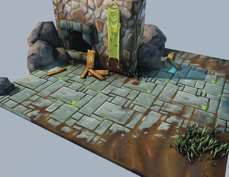 Worth Dayley - 3D Game Artist > Game Art: Handpainted Textures