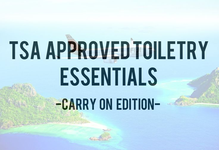Pack a TSA approved carry-on toiletry bag: Like a boss travel flight holiday vacation hack tip fiji island