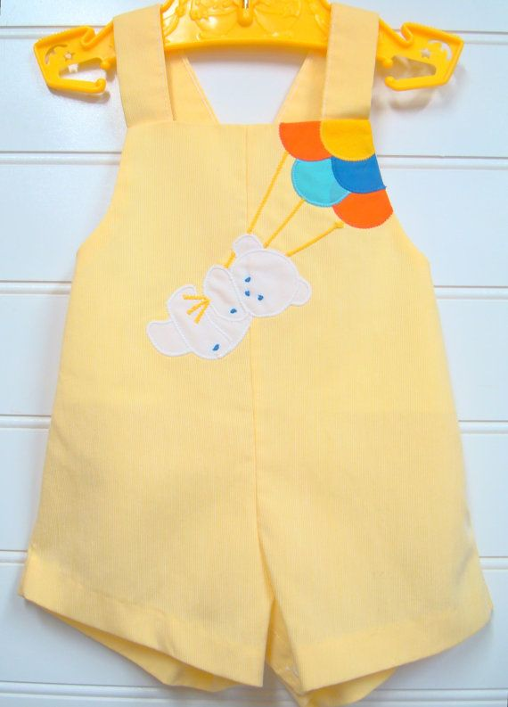 Vintage baby boy romper / sunsuit, 1960's.