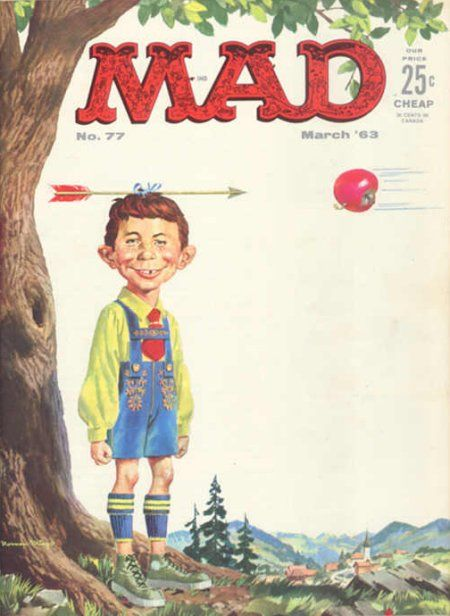 Mad Magazine No. 77, March 1963 - cover  http://scottgronmark.blogspot.co.uk/2016/11/celebrating-mad-magazines-anarchic.html