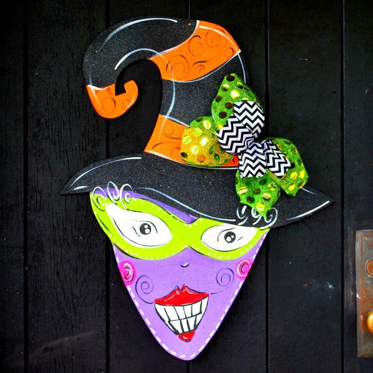 Halloween Wreath, Witch Wreath, Halloween Door Hanger, Witch Decoration, Halloween witch sign, Halloween Decor